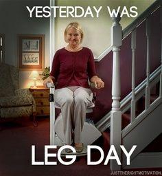 Yesterday was leg day