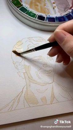 Watercolor Painting Techniques, Painting & Drawing, Watercolor Art, Art Drawings Sketches Simple, Amazing Drawings, Learn Art, Digital Art Tutorial, Wow Art, Diy Canvas Art