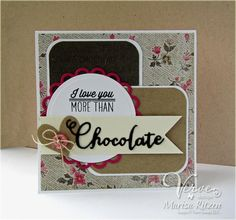 Handmade card by Marisa Ritzen using the Chocolate stamp set and Chocolate Word Die from Verve.  #vervestamps