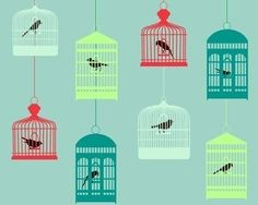 vintage-inspired bird cages