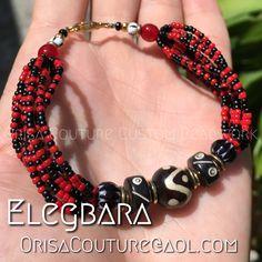 Ide Elegua For inquires, please send an email to OrisaCouture@aol.com #ide #elegbara #elegba #elegua #eleggua #eshu #esu #orisa #orisha #lukumi #santeria #yoruba