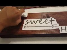 diy painted wood sign - YouTube