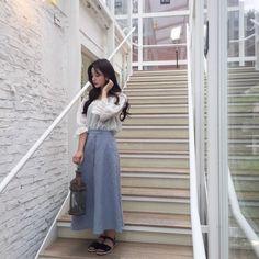 Ulzzang Hair, Ulzzang Korean Girl, Lolita Fashion, Girl Fashion, Fashion Outfits, Cute Korean Fashion, Uzzlang Girl, Ulzzang Fashion, Korean Model