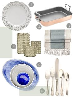 #entertaining, setting the table with gray, cobalt blue and silver tones.  Love the copper, too!
