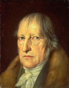 Portret van Georg Hegel  (1770-1831) door Jakob Schlesinger uit 1831