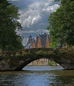 Bruges, Belgium.  Old bridges can be so romantic.