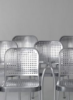 Aluminium chair with armrests SILVER 2015 by DE PADOVA | #design Vico Magistretti