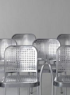 Aluminium chair with armrests SILVER 2015 by DE PADOVA | #design Vico Magistretti