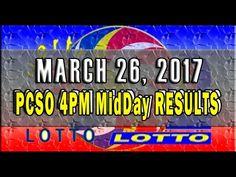 PCSO MidDay - 4PM Results March 26, 2017 (SWERTRES & EZ2) Lotto Results, Lottery Tips, April 25, February, Positive Affirmations, Online Business, Stress, Positivity, Youtube