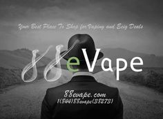 Earn $5 Cach Back Your Purchase @88evape - Find the best vaping and e-cig deals @88evape.com. From Mechanical Mods, Atomizers, Drip Tips, Chargers, Batteries, Clearomizers and many more