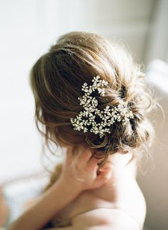 pearly bridal up-do | image via: grey likes weddings