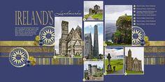 Ireland- another clean, graphic layout by @Barbie Schwartz: Scrapbook Travel, Scrapbook