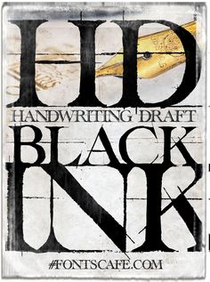 """Handwriting draft Black"" font 