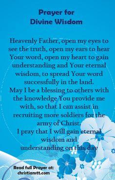 Prayers for Divine Wisdom, Understanding and Guidance