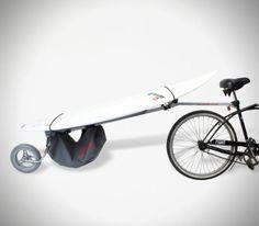 Wheele Surfboard Bike Rack Carrier - lifestylerstore - http://www.lifestylerstore.com/wheele-surfboard-bike-rack-carrier/