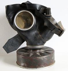 Old german WW2 gasmask #army #military #gasmask #germangasmask you can buy on http://www.salonmody.cz/en/home/193-gasmask.html