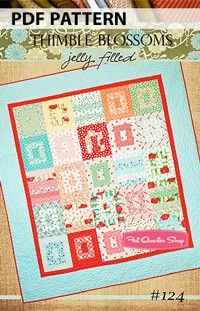 Jelly Filled Downloadable PDF Quilt PatternThimble Blossoms