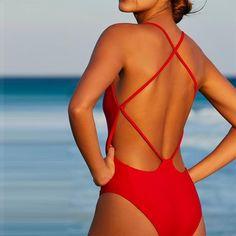 2020 New Swim Tops Bathing Suit Websites Mini Bikini Swimwear Underwire One Piece Swimsuit One Piece Swimsuit Red, Red Swimsuit, Conservative Swimsuit, Bikini Swimwear, Swimsuits, Sexy Bikini, Mini Bikini, Bathing Suit Top, Bikini Fashion