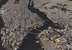 """CITY LAYOUTS BY LUIS DILGER Graphic Designer Luis Dilger - """"Topography, architecture and traffic routes give every city a unique structure. These conditions create the typical and individual inner. Manhattan City, City Layout, City Maps, Urban Life, Living At Home, Cinema 4d, Urban Design, 3d Design, City Photo"""