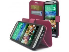 Smart Cover HTC One M8 Folio Grain Maroquinerie Rose