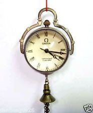 Vintage lovely OLD brass Clear crystal Round ball clock Pocket watch