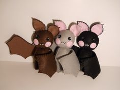 One felt little bat baby stuffed plush  pick a by SouthernGothica, $30.00
