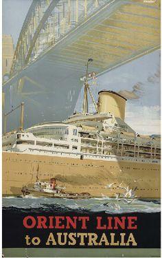 Orient Line - to Australia - 1948 - (Johnston) -
