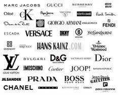 Most popular high fashion clothing brands of designer logos fashion Clothing Brand Logos, Clothing Company, Fashion Company, High Fashion Outfits, High End Fashion, Fashion Fashion, Trendy Fashion, Mode Logos, Marc Jacobs