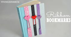 These non slip easy sew ribbon bookmarks are fun to make, and stretch to fit your book. All you need is thread, ribbon, a button and a needle!