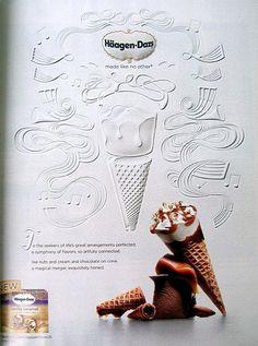Haagen-Dazs paper sculpted ice cream