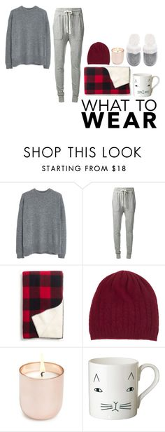 """""""What to Wear: Netflix Binge"""" by peperutka-eva ❤ liked on Polyvore featuring MANGO, James Perse, Madewell, Johnstons of Elgin, Jonathan Adler, Donna Wilson and Victoria's Secret"""