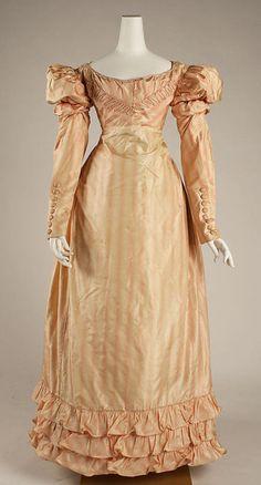 Dress ca. 1822 via The Costume Institute of the Metropolitan Museum of Art