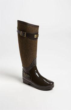 Why sing the rain away? Hunter 'Regent Apsley' Rain Boot (Women) in Chocolate   Nordstrom
