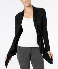 Take a look at this Lucy Black Inner Journey Open Cardigan on zulily today!