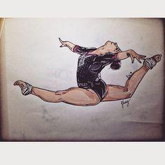 """Mi piace"": 562, commenti: 69 - Francesca Ganassi ☮ (@francisg__) su Instagram: ""@erika_fasana  #erikafasana #gym #gymdraw #gymnast #gymnastic #girl #paint #pantone #passion…"""