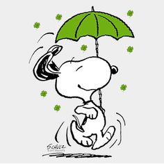 Celebrate everyone's unique identity and passions with custom t-shirts, stickers, posters, coffee mugs and more. Peanuts Cartoon, Peanuts Snoopy, Charlie Brown, Snoopy Beagle, St Patricks Day Wallpaper, Snoopy Pictures, Archangel Raphael, Umbrella Art, Snoopy Quotes