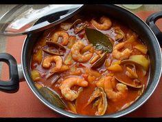 PATATAS guisadas a la MARINERA - ¡Tienes que probar este caldo! - YouTube Paella, Canapes, Thai Red Curry, Menu, Snacks, Ethnic Recipes, Food, Polenta, Drink