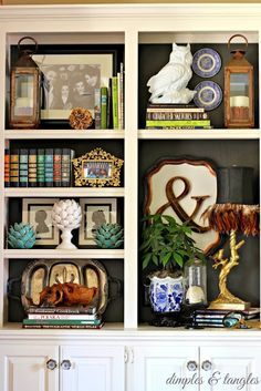Green with envy eclectic home tour: interesting book case built in styling #homedecorideas