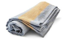 Belgian Linen Kitchen Towels (Flax & Blue)