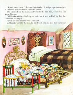 """""""Goldilocks"""" by Anne and Janet Grahame Johnstone  *this is the one i had when i was a girl <3"""