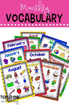 A Classroom Writing Center Students Will LOVE Add these monthly vocabulary posters for your writing center to give your students writing topics and words to choose from. Writing Center Kindergarten, Kindergarten Posters, Beginning Of Kindergarten, First Grade Writing, Kindergarten Lesson Plans, Kindergarten Literacy, Writing Centers, Art Centers, Writing Topics