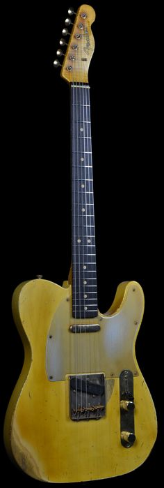 Wild West Guitars : Fender Masterbuilt John Cruz 1963 Heavy Relic Telecaster Vintage Blonde with Gold Hardware