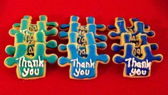 Autism Thank You cookies by Call Me Cookie