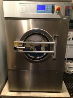 Our Industrial sized washer and dryer to make sure your babies diapers are super clean and ready to use