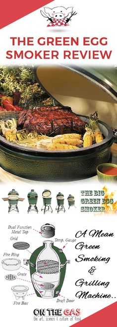 The Green Egg Smoker is the latest invention in barbequing, said to give you the tastiest food.