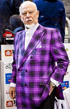 Don Cherry This will sharpen you up and serve 'em a bit of the ol' ultra-violet. Ornette Coleman, Don Cherry, Hockey Pictures, Hockey Rules, Different Sports, Purple Jacket, Best Player, Portraits, Hockey Players