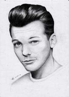 My drawing of Louis Tomlinson from One Direction done on paper One Direction Fan Art, One Direction Drawings, Louis Tomlinson 2014, Bae, Louis Tomlinsom, Louis Williams, Beautiful Drawings, Katana, Pencil Drawings