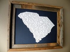 South Carolina In A Nutshell Word Art Map by fortheloveofmaps, $22.00