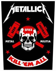 Metallica Metal Militia Rückenaufnäher Patch