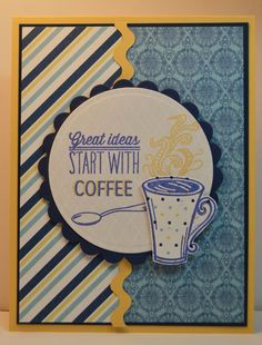 Handmade card by Jennie using the Coffee set from Verve. #vervestamps #coffeelovingpapercrafters